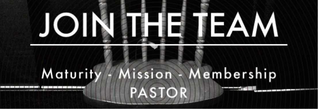 JOIN THE TEAM – Full Time Pastor